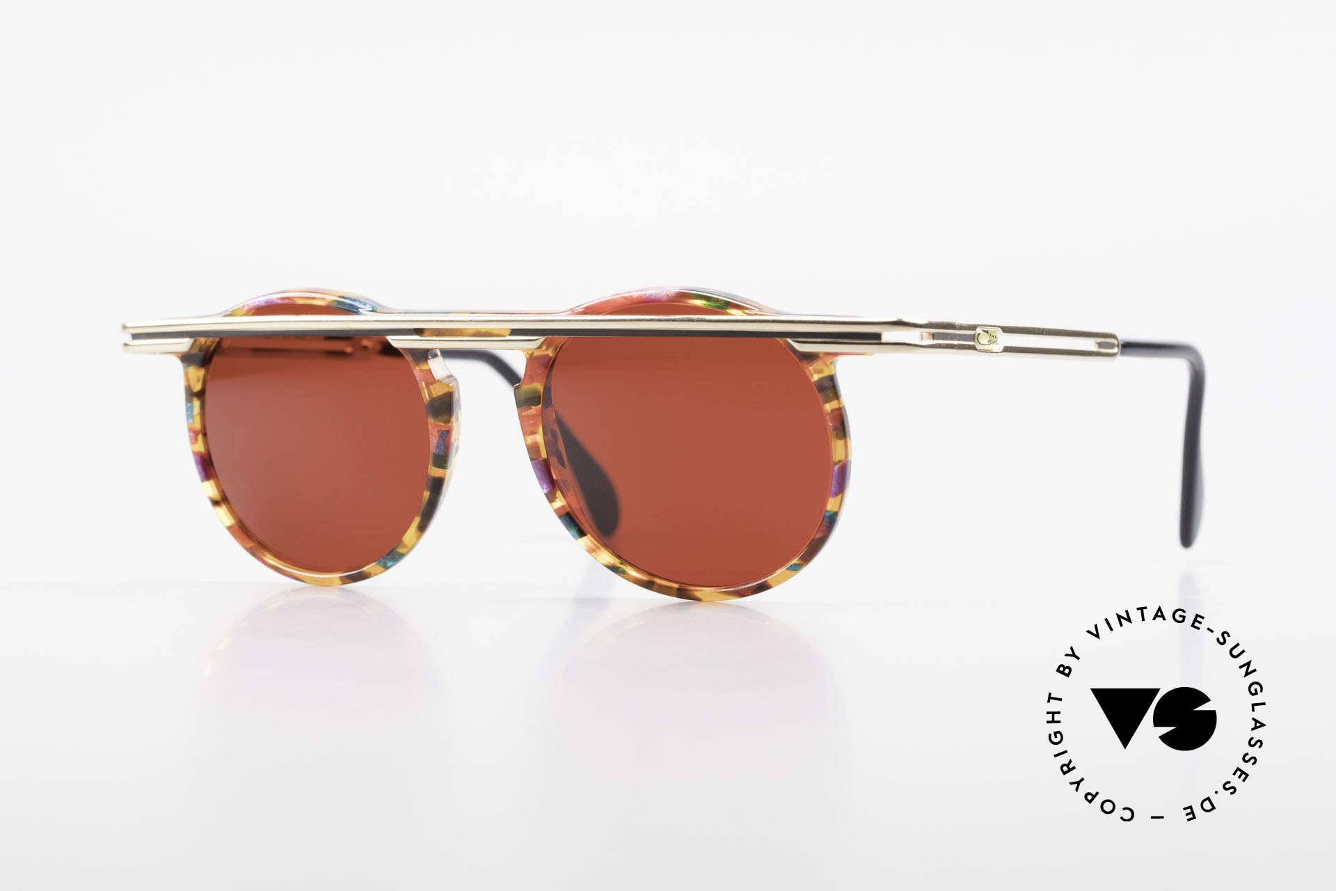 Cazal 648 Original Alte Cazal Brille 90er, außergerwöhnliche Cazal vintage Brille von 1990, Passend für Herren und Damen