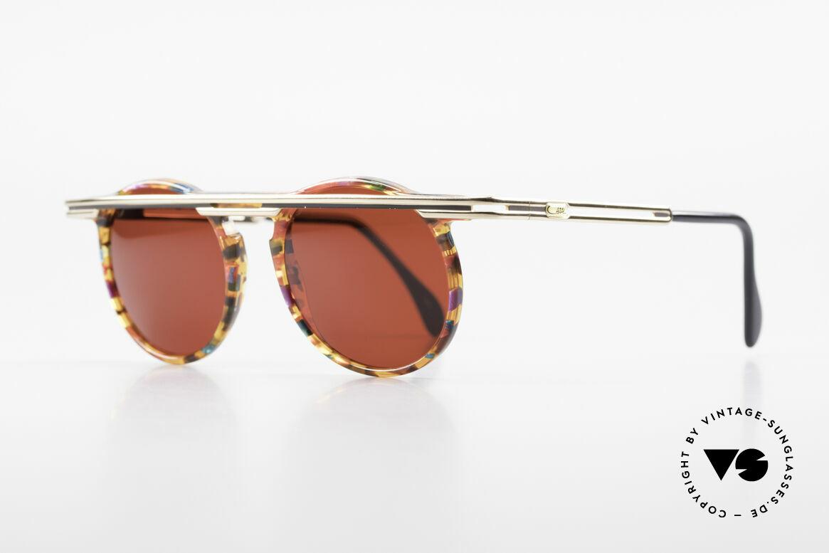 Cazal 648 Original Alte Cazal Brille 90er, extrovertierte Rahmengestaltung in Farbe & Form, Passend für Herren und Damen