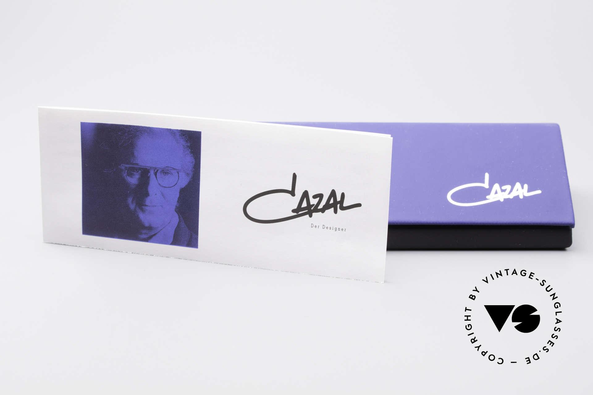 Cazal 648 Original Alte Cazal Brille 90er, medium Gr. 48-19 mit schrillen Gläsern in 3D rot, Passend für Herren und Damen