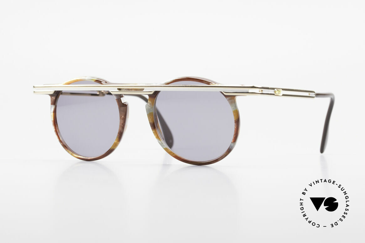 Cazal 648 Cari Zalloni Vintage Brille 90er, außergerwöhnliche CAZAL vintage Brille von 1990, Passend für Herren und Damen
