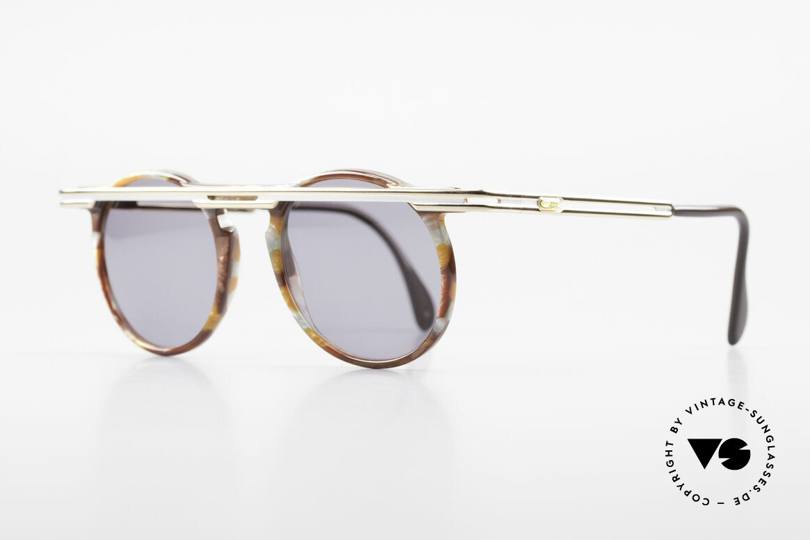 Cazal 648 Cari Zalloni Vintage Brille 90er, extrovertierte Rahmengestaltung in Farbe & Form, Passend für Herren und Damen