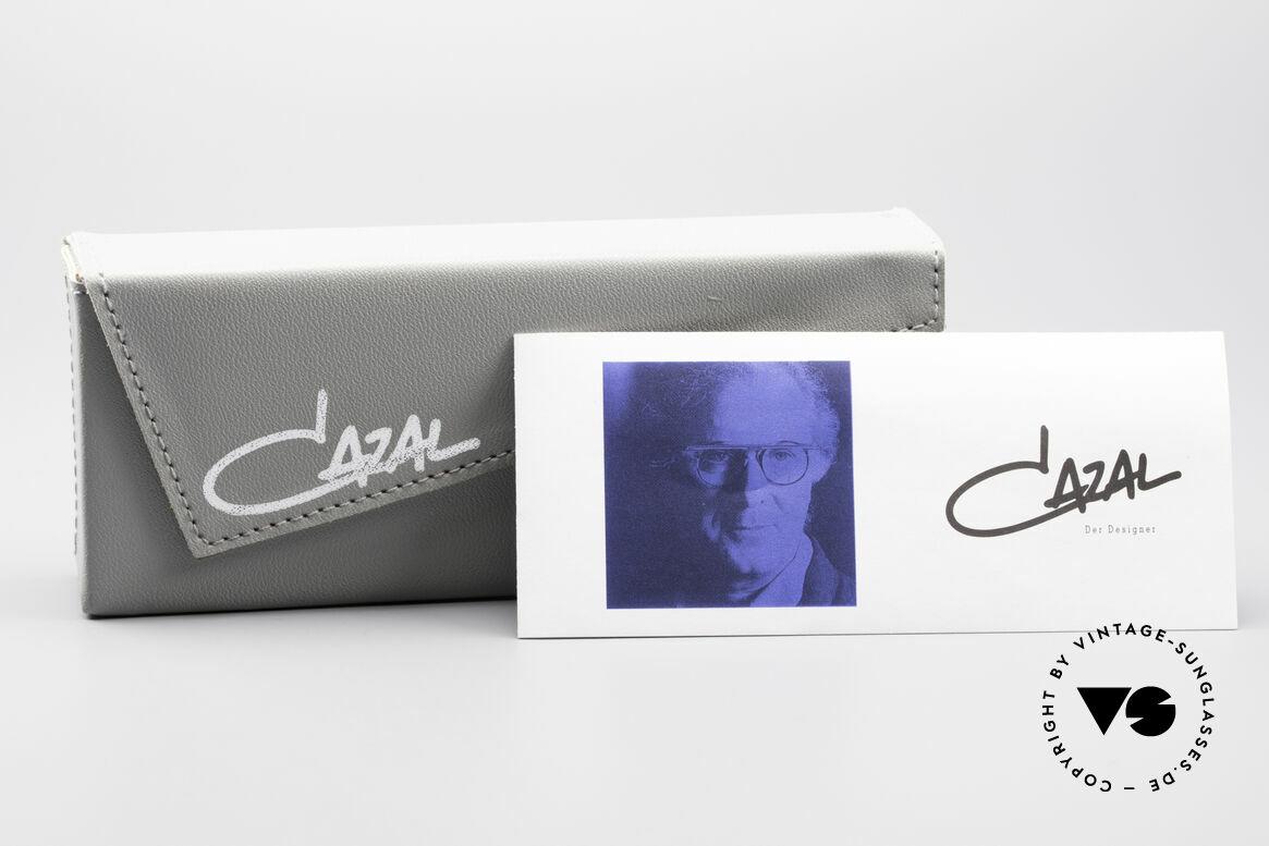 Cazal 648 Alte Cari Zalloni 90er Brille, medium Größe 48-19 (mit blauen Sonnengläsern), Passend für Herren und Damen
