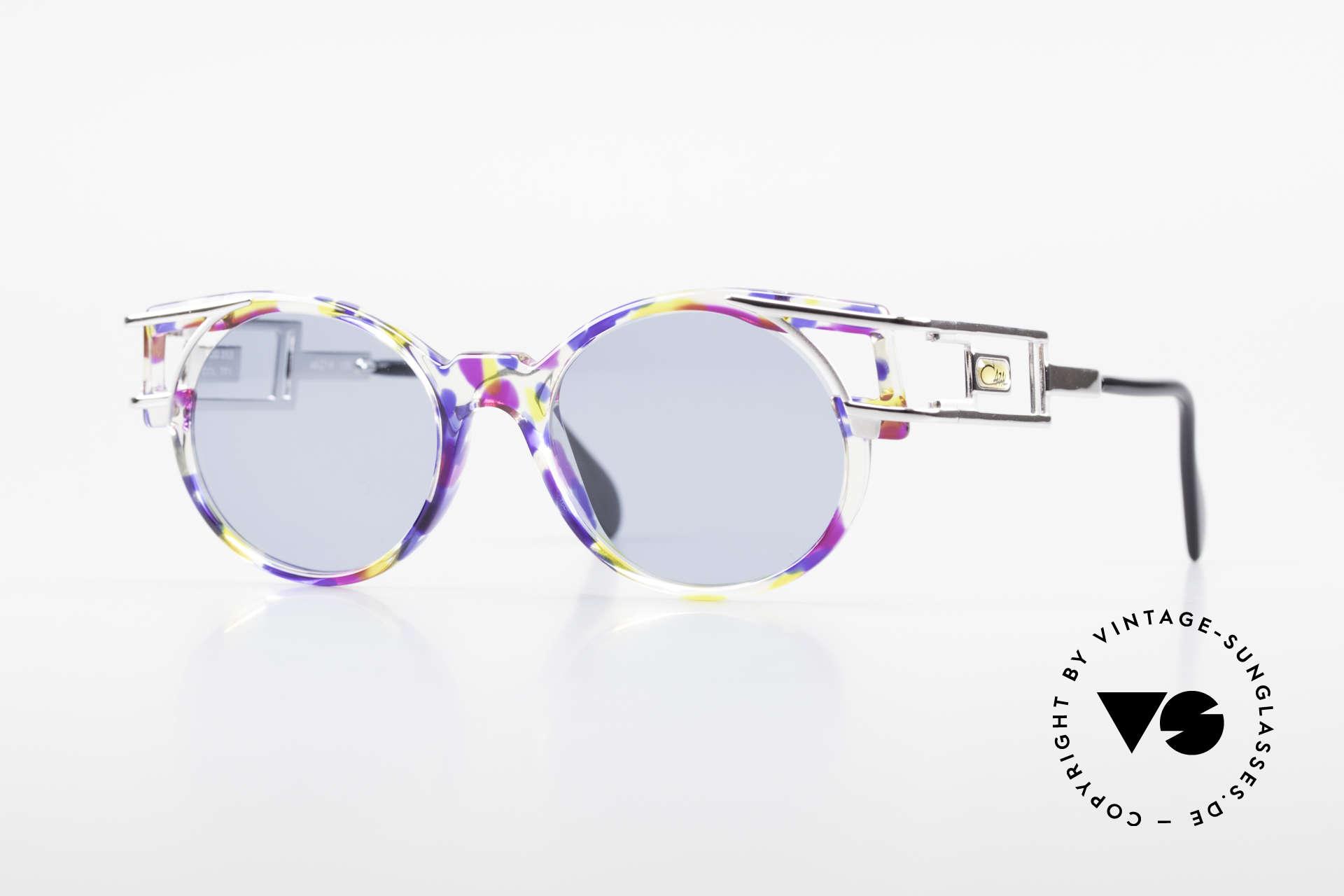 Cazal 353 Alte Cazal Hip Hop Brille 90er, alte vintage Cazal Designerbrille aus dem Jahre 1991, Passend für Herren und Damen