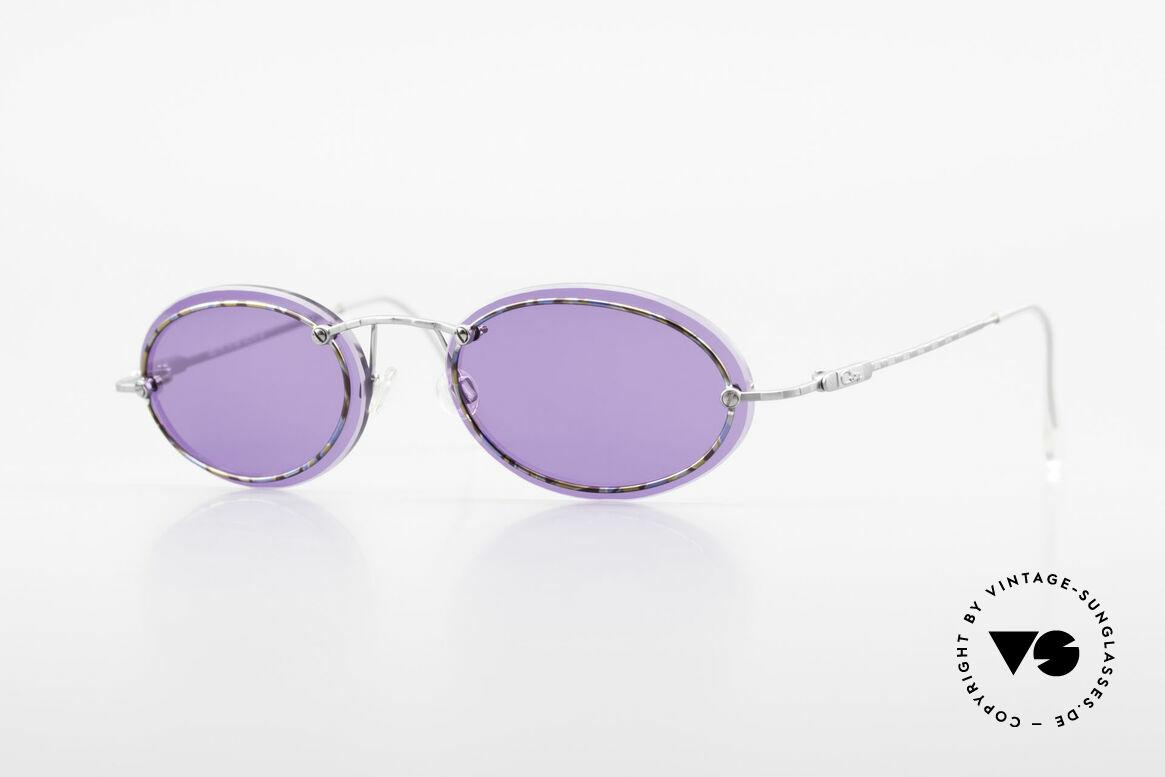 Cazal 770 Oval Vintage Sonnenbrille 90er, filigrane Cazal vintage Brillenfassung von ca. 1998/99, Passend für Herren und Damen