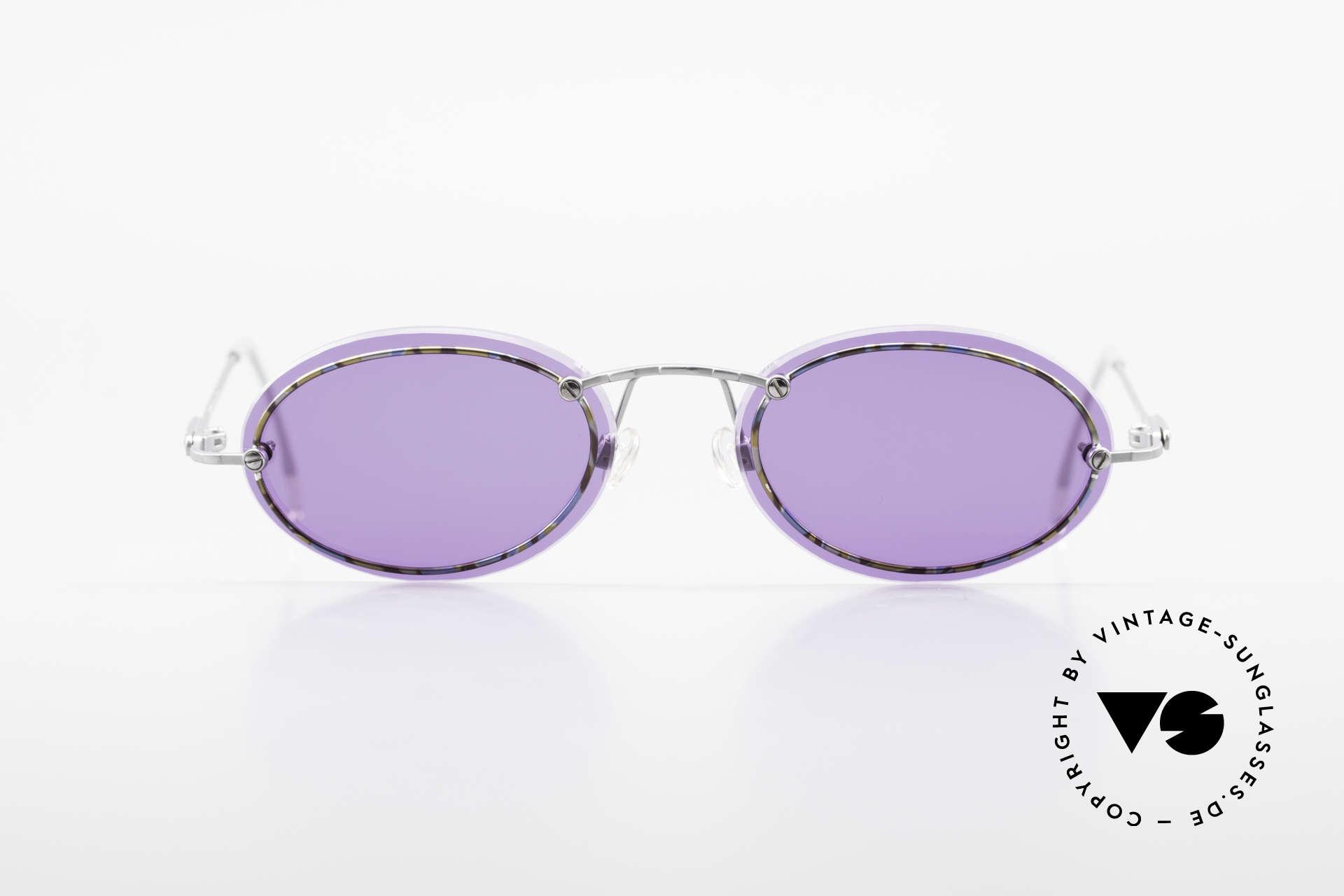 Cazal 770 Oval Vintage Sonnenbrille 90er, dünne und schmale Rahmenprofile (daher 16g leicht), Passend für Herren und Damen