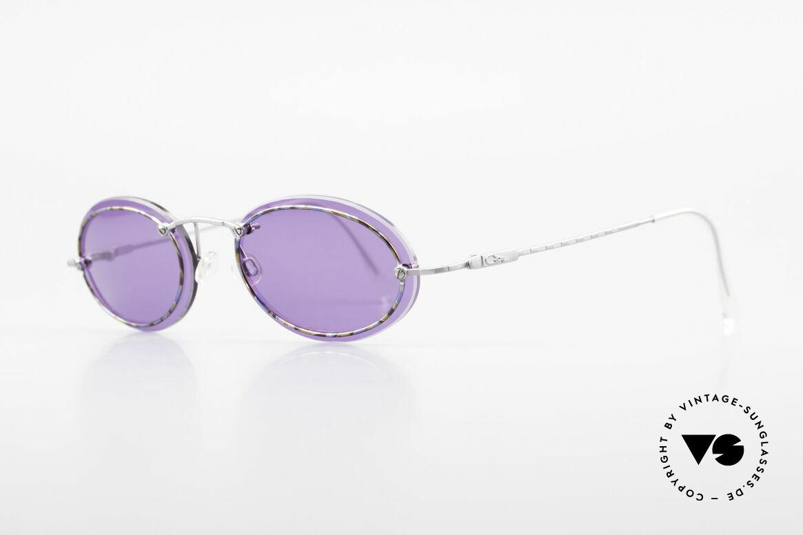 Cazal 770 Oval Vintage Sonnenbrille 90er, auf den 1. Blick minimalistisch; jedoch sehr raffiniert, Passend für Herren und Damen