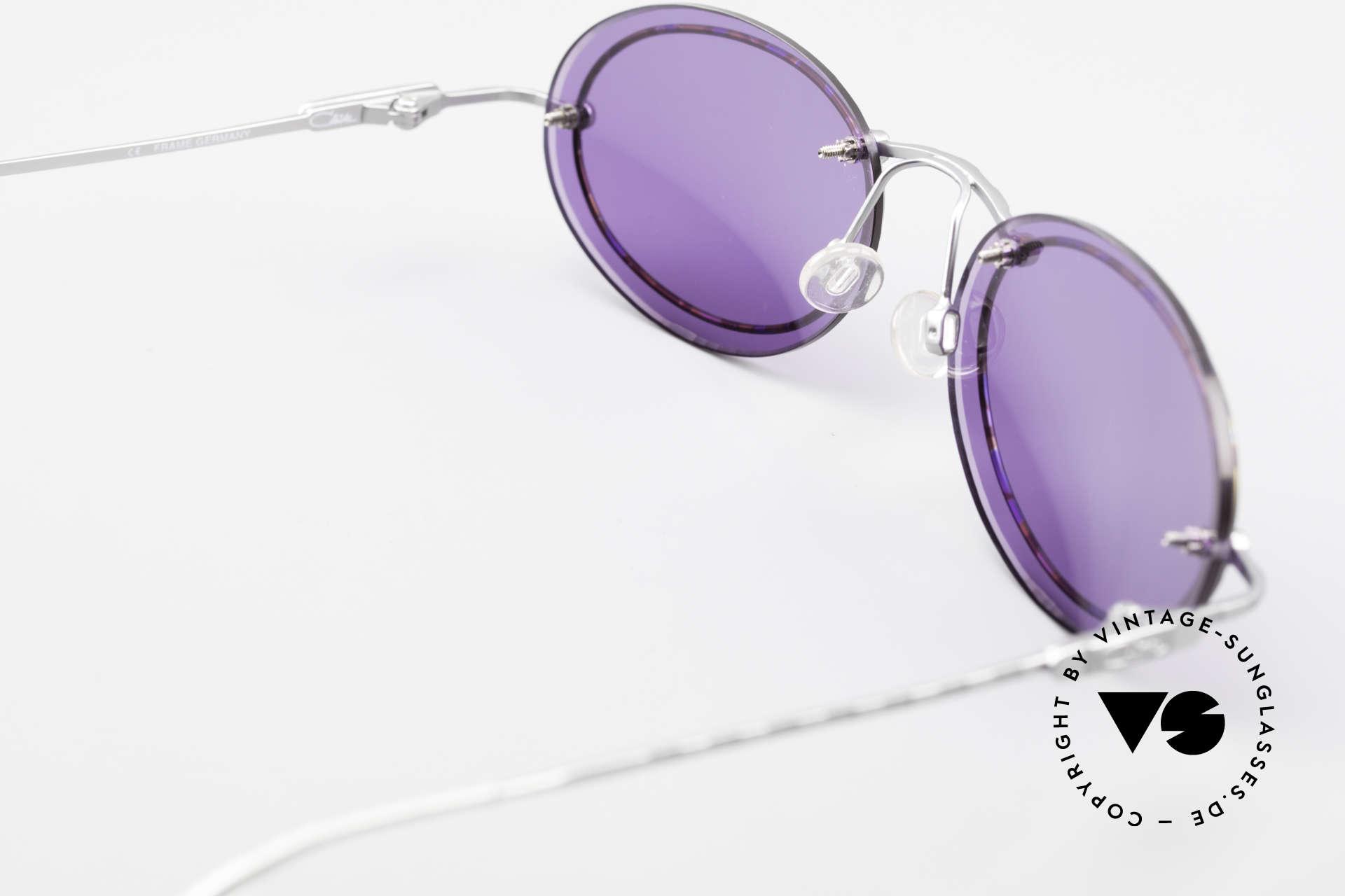 Cazal 770 Oval Vintage Sonnenbrille 90er, violetten Sonnengläser sind sehr angenehm zu tragen, Passend für Herren und Damen