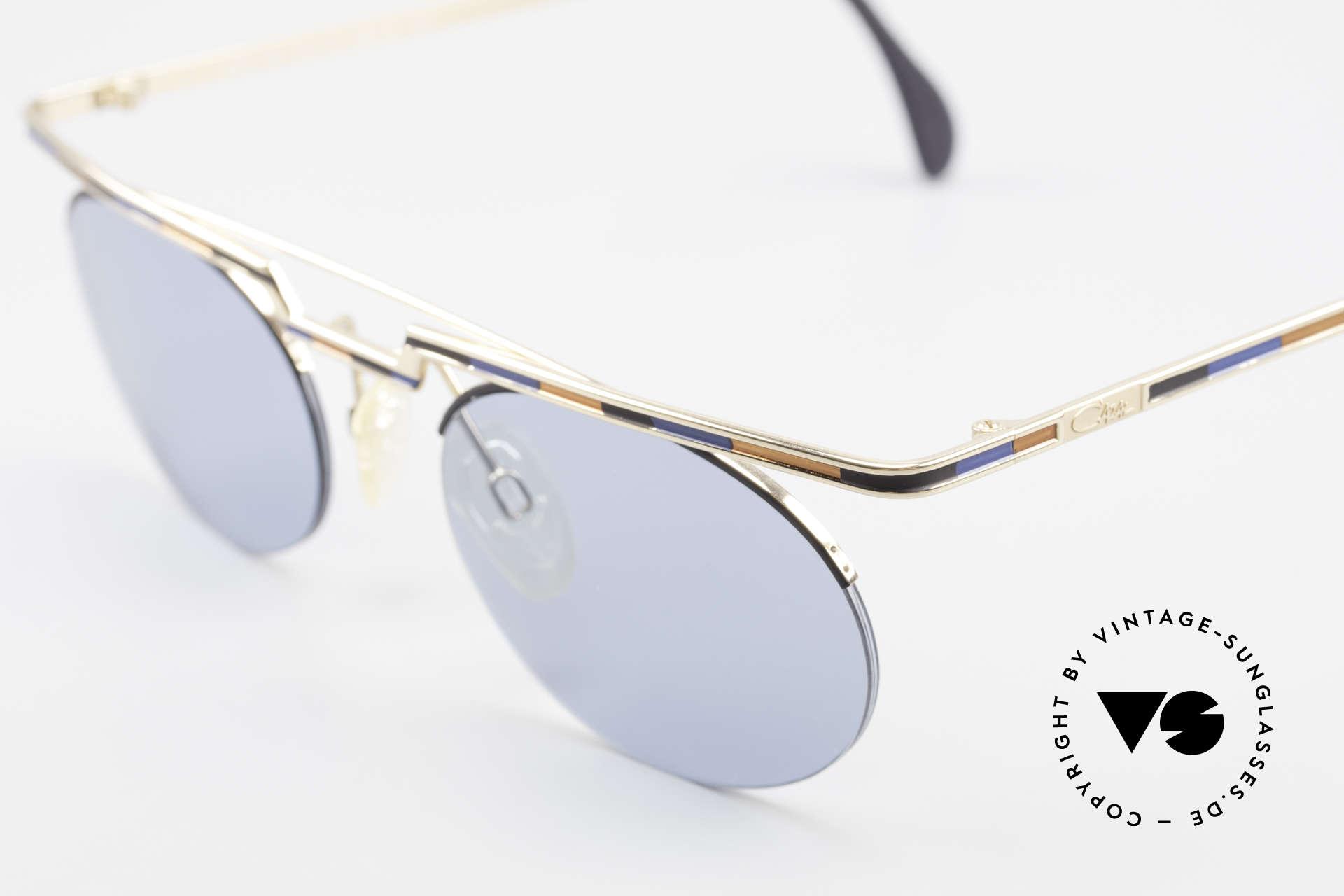 Cazal 758 Original 90er Sonnenbrille, Katalog Farbbezeichnung: marineblau-braun-schwarz, Passend für Herren und Damen
