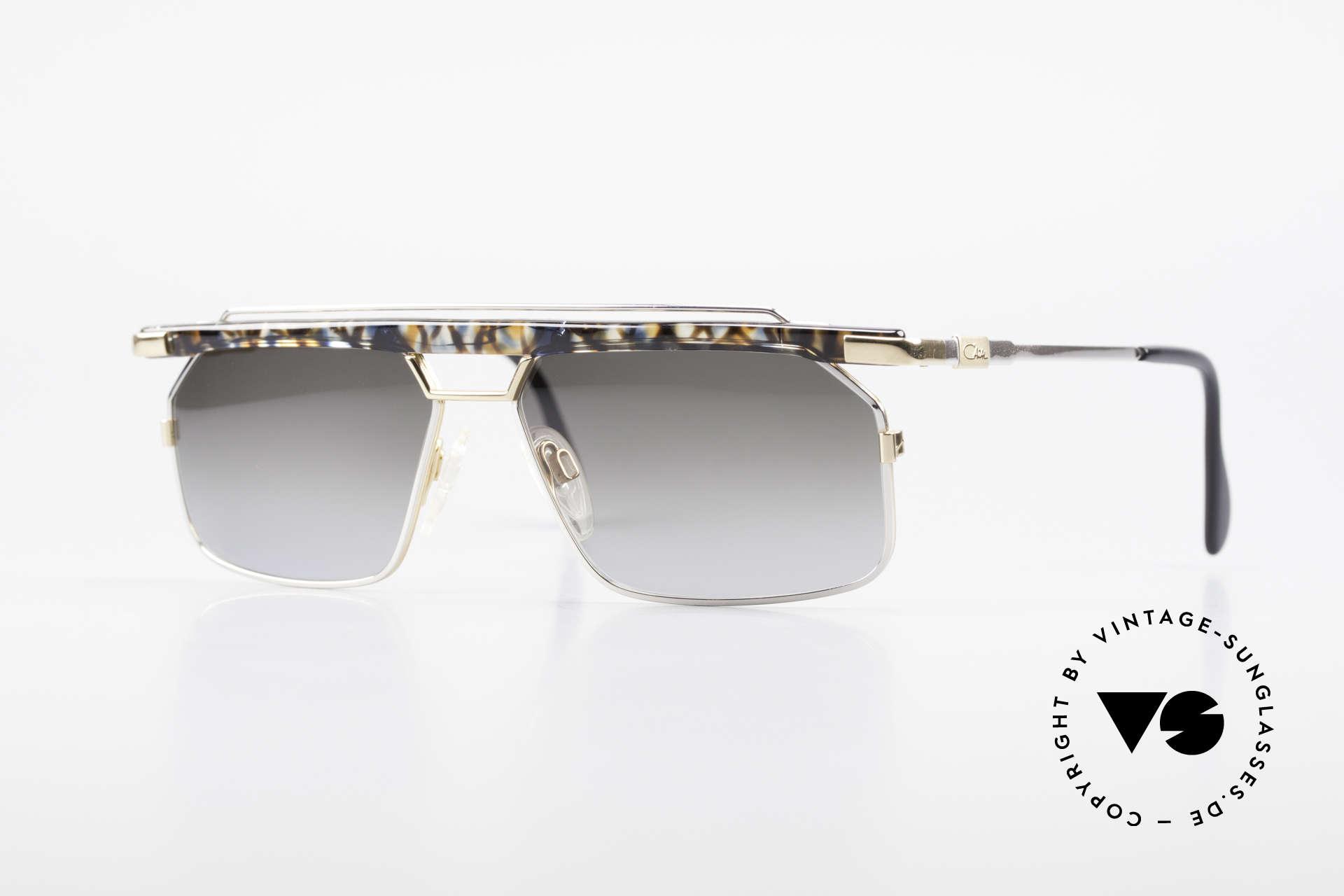 Cazal 752 Rare 90er Vintage Sonnenbrille, sehr markante CAZAL Herren-Brille von 1993/1994, Passend für Herren