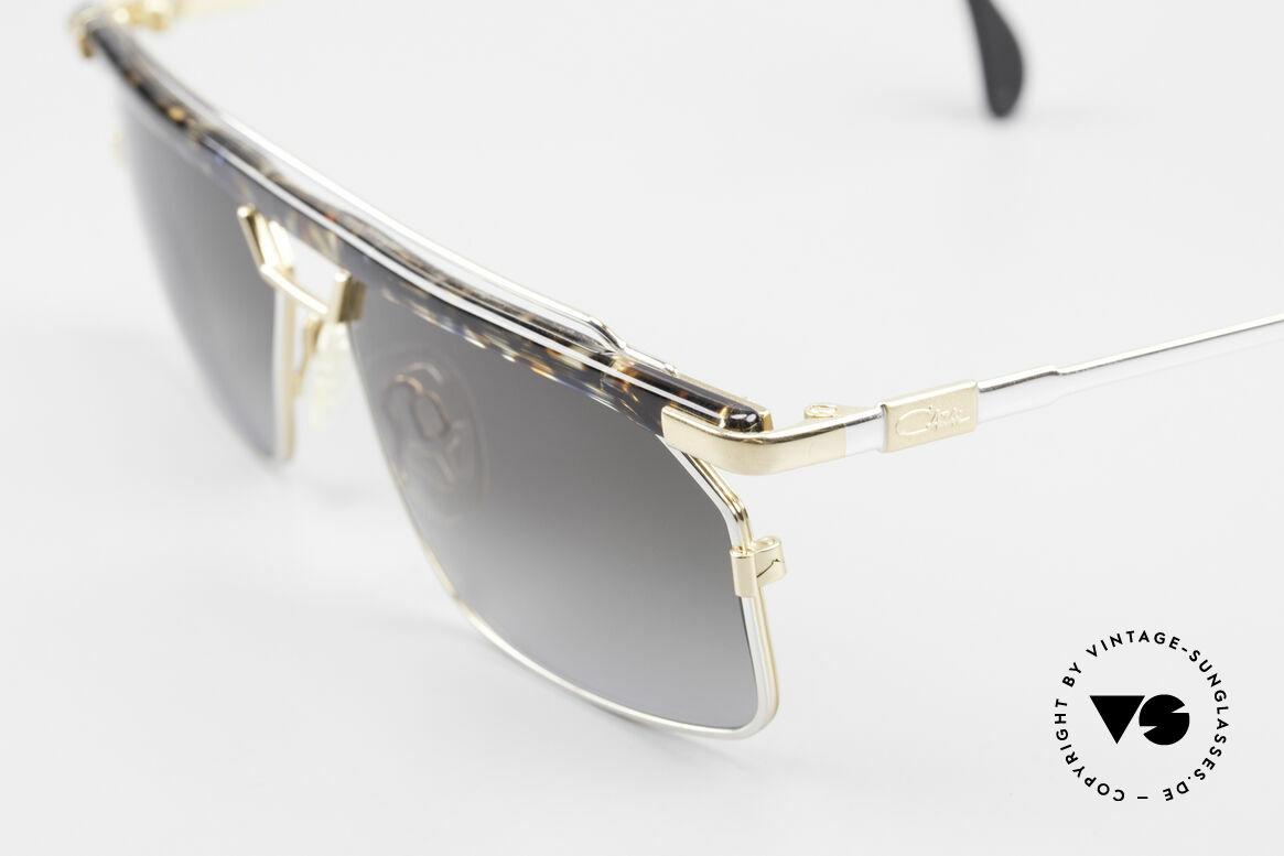 Cazal 752 Rare 90er Vintage Sonnenbrille, tolle Metallarbeiten und außergewöhnlicher Look, Passend für Herren