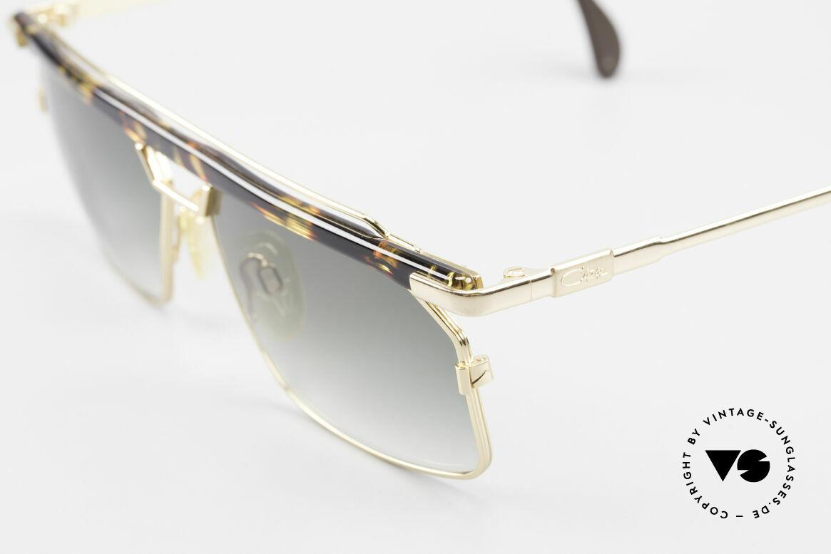 Cazal 752 90er Vintage Sonnenbrille Rar, tolle Metallarbeiten und außergewöhnlicher Look, Passend für Herren