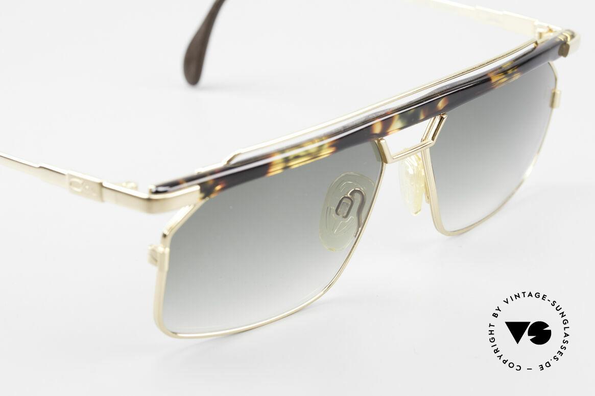 """Cazal 752 90er Vintage Sonnenbrille Rar, ein Hingucker in Kolorierung: """"bernstein-moosgrün"""", Passend für Herren"""