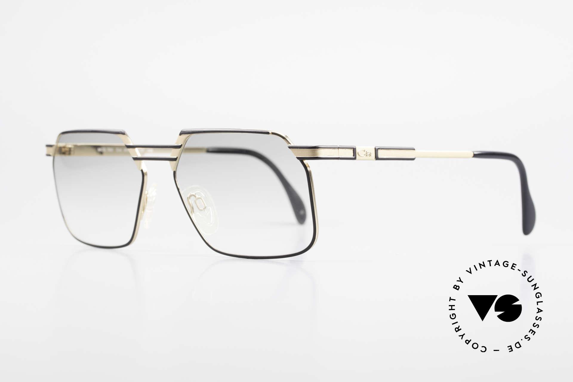 Cazal 760 Vintage 90er Qualitätsbrille, stabile Metall-Fassung mit eleganter Kolorierung, Passend für Herren