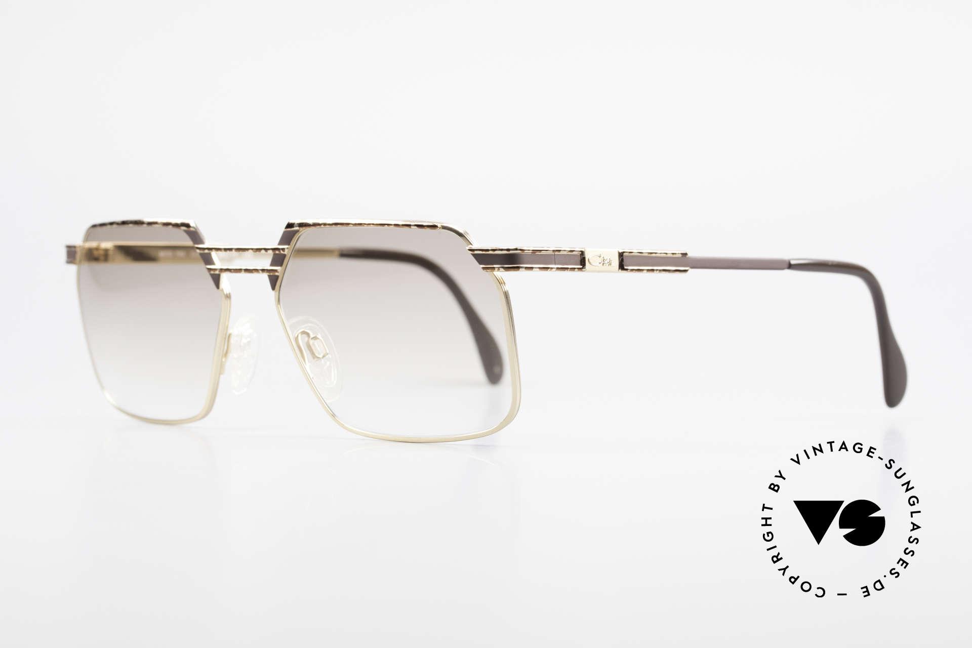 Cazal 760 Echt Vintage 90er Sonnenbrille, stabile Metall-Fassung mit eleganter Kolorierung, Passend für Herren