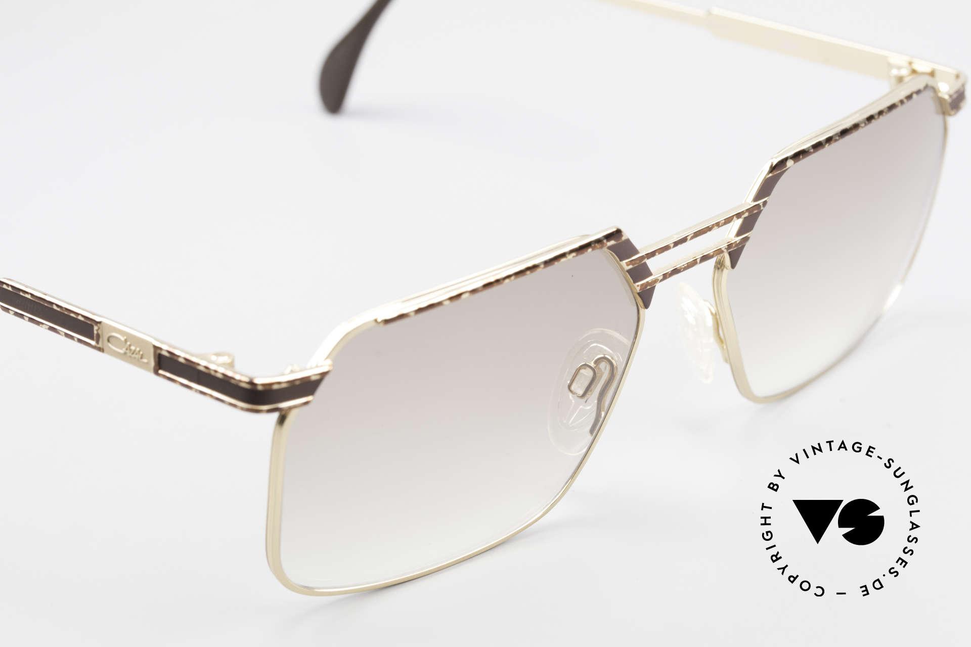 Cazal 760 Echt Vintage 90er Sonnenbrille, ungetragen, leicht braun getönte Gläser, L Gr. 59-17, Passend für Herren
