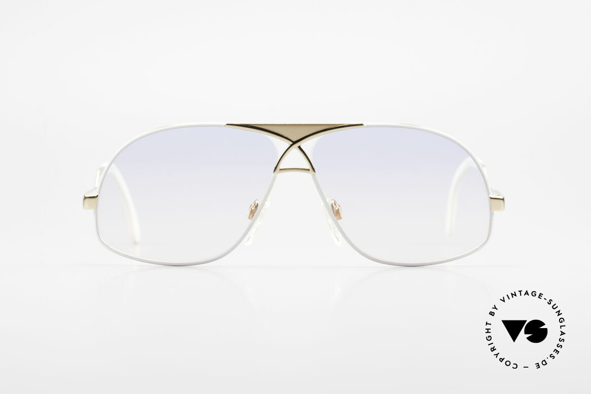 Cazal 737 Vintage Aviator Sonnenbrille, Herren-Designerbrille von circa 1988 (W.Germany), Passend für Herren