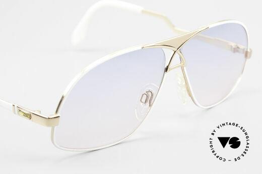 Cazal 737 Vintage Aviator Sonnenbrille, neue, originelle Sonnengläser in blau-pink Verlauf, Passend für Herren
