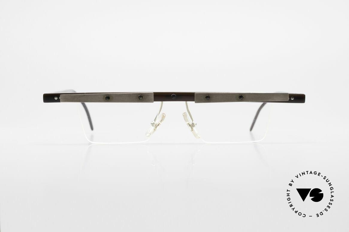 Theo Belgium Lambeta 7 Echte Büffelhorn Fassung, in 1989 gegründet als 'ANTI MAINSTREAM' Brillenmode, Passend für Herren