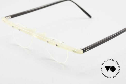 Theo Belgium Fhefa Rare 90er Büffelhorn Brille