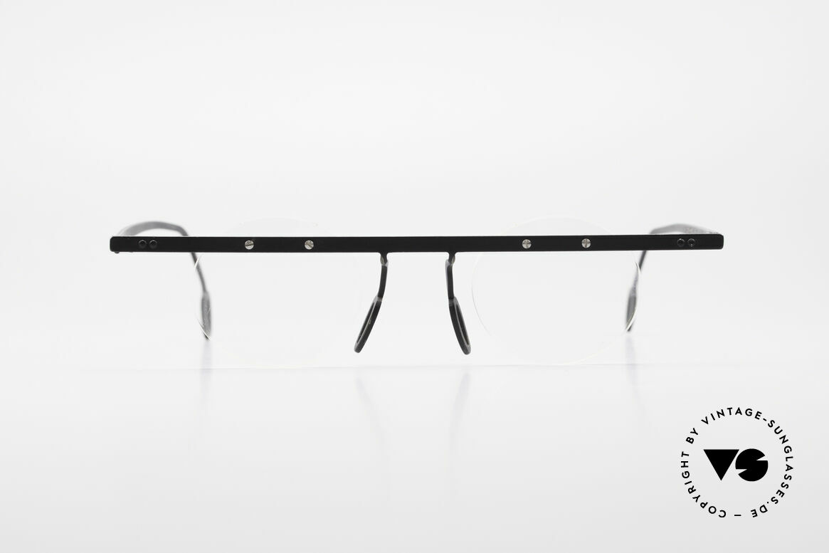 Theo Belgium Tita VII 11 Titanium 90er Vintage Brille, in 1989 gegründet als 'ANTI MAINSTREAM' Brillenmode, Passend für Herren und Damen