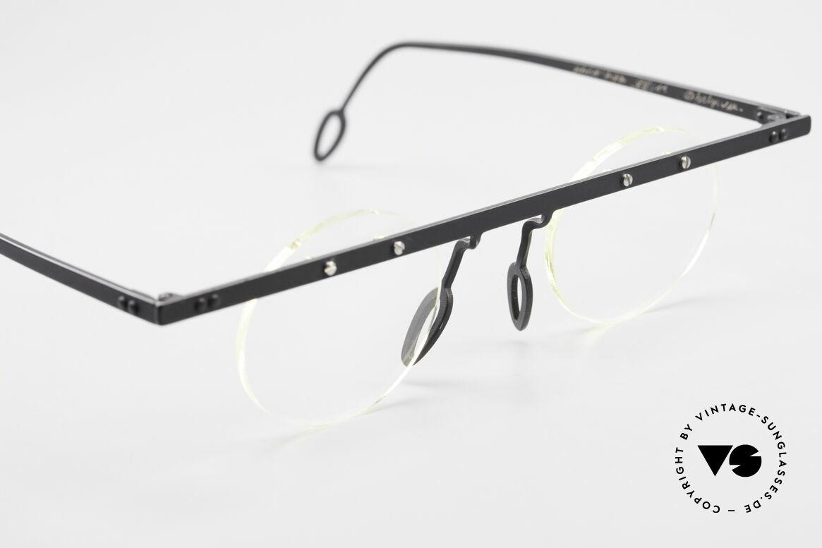 Theo Belgium Tita VII 11 Titanium 90er Vintage Brille, ungetragenes Theo-Original und KEINE RETROBRILLE!, Passend für Herren und Damen