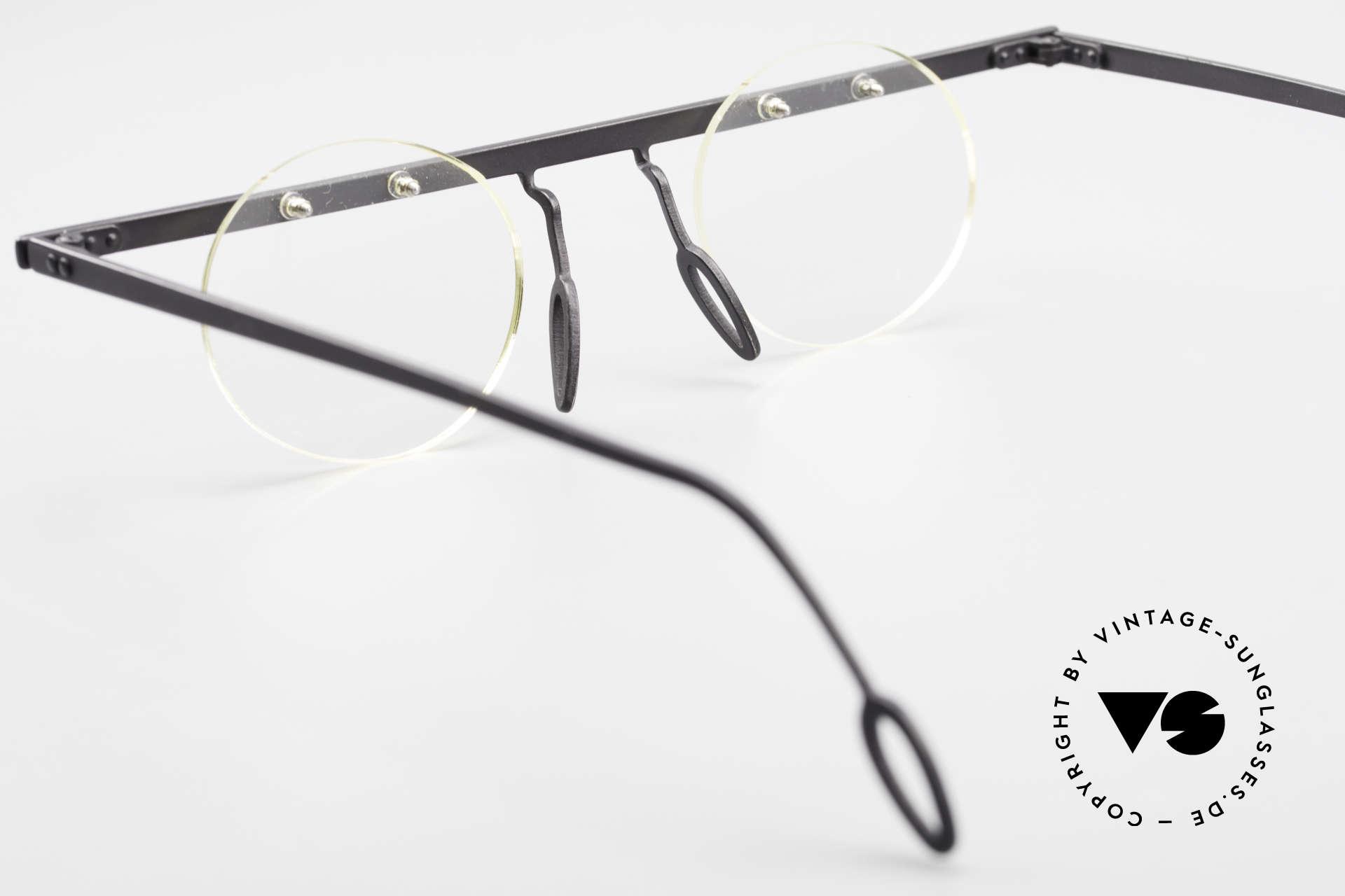 Theo Belgium Tita VII 11 Titanium 90er Vintage Brille, Größe: large, Passend für Herren und Damen