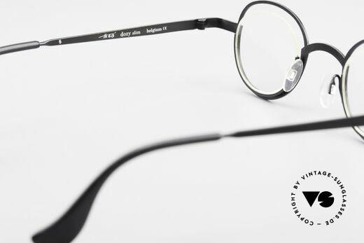 Theo Belgium Dozy Slim Randlose 90er Metall Fassung, KEINE RETRObrille; ein ca. 20 Jahre altes ORIGINAL, Passend für Herren und Damen
