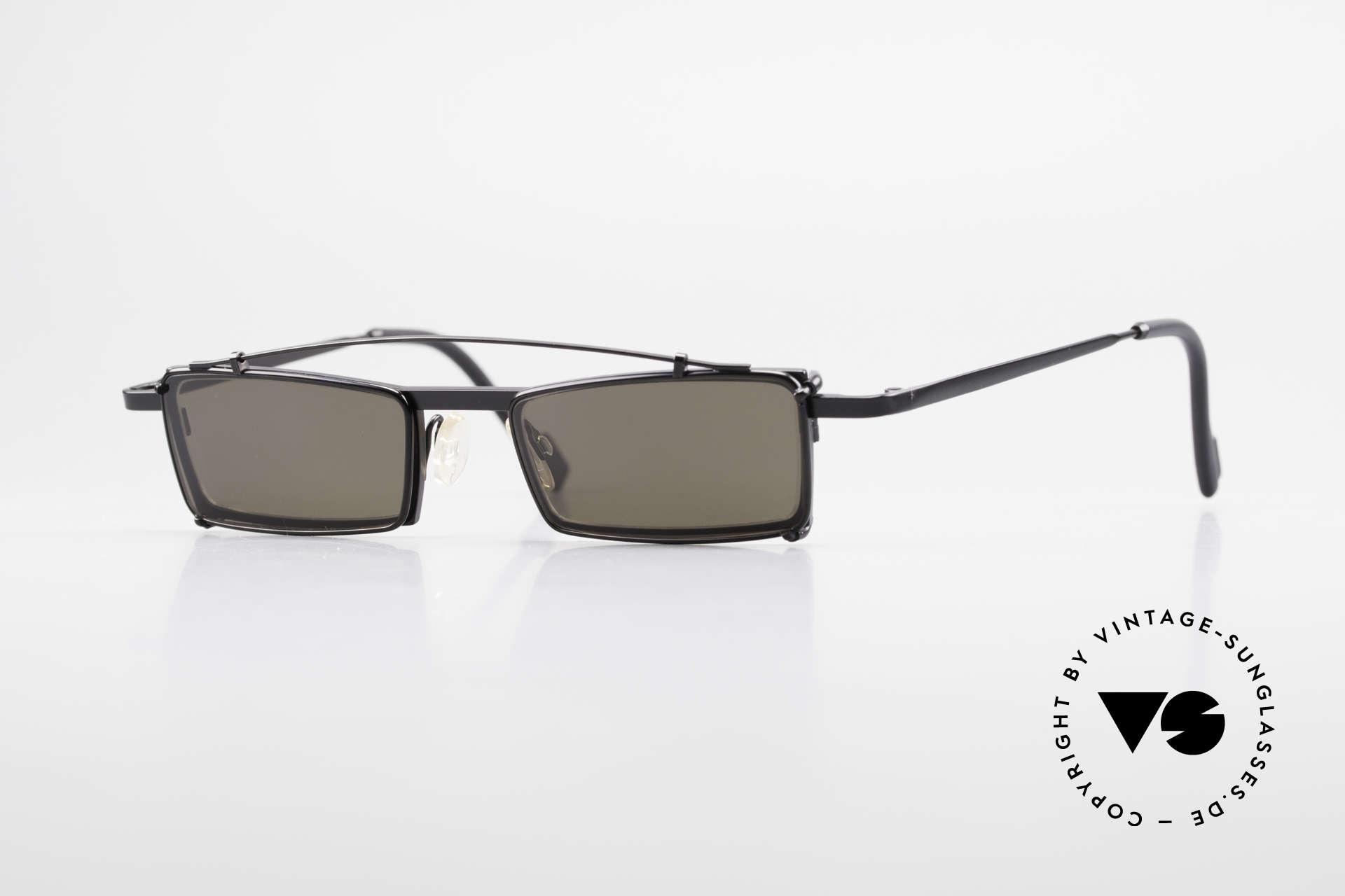 Theo Belgium XM Eckige Designerbrille Clip On, Theo Belgium: die eigenwilligste Brillenmarke, weltweit, Passend für Herren