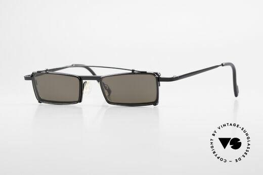Theo Belgium XM Eckige Designerbrille Clip On Details