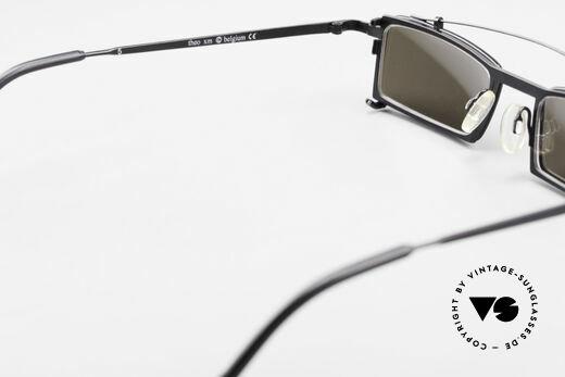 Theo Belgium XM Eckige Designerbrille Clip On, sozusagen: VINTAGE Sonnenbrille mit Symbol-Charakter, Passend für Herren