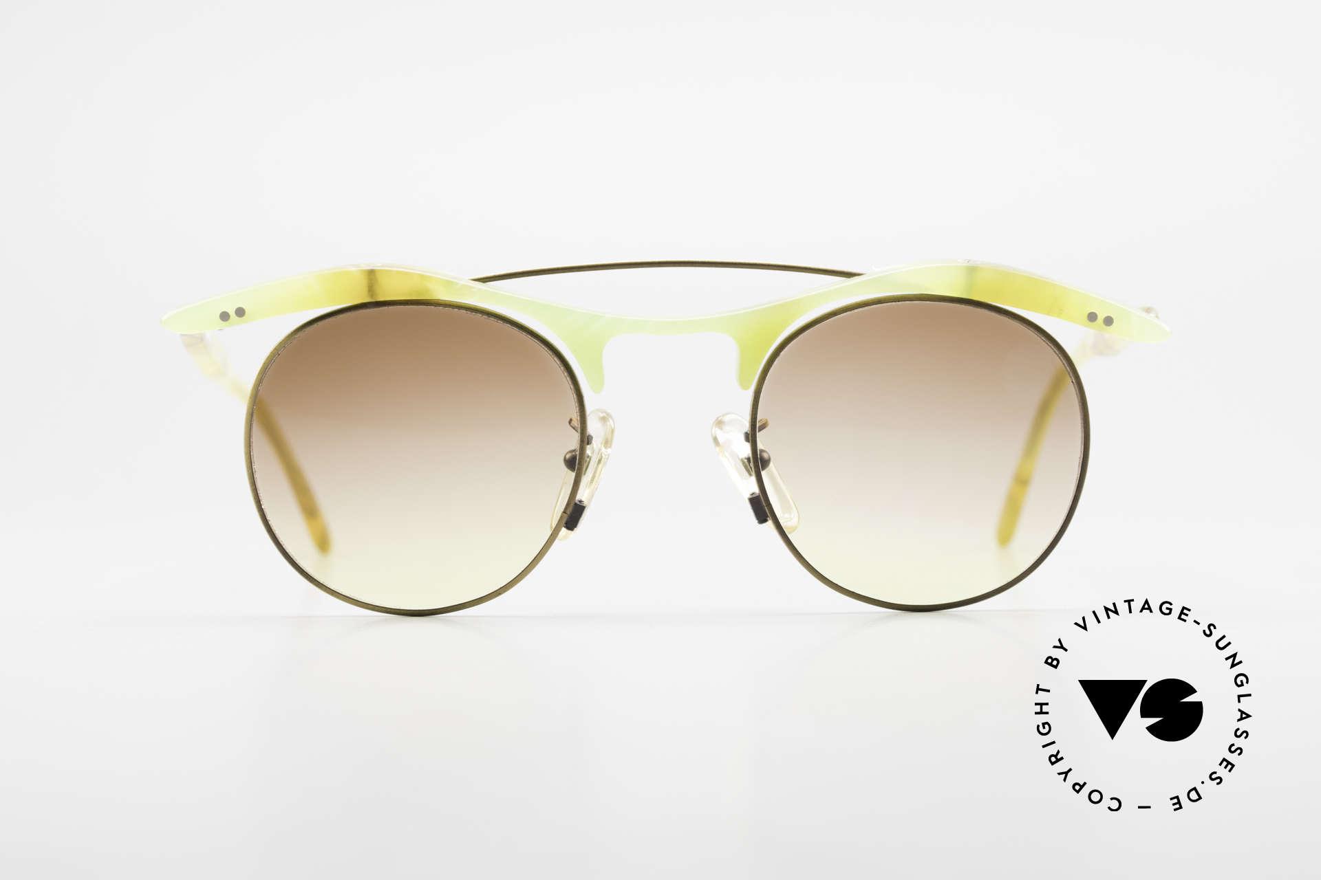 L.A. Eyeworks YANG 670 Vintage Sonnenbrille No Retro, mutige Designs entgegen aller konventionellen Trends, Passend für Herren und Damen