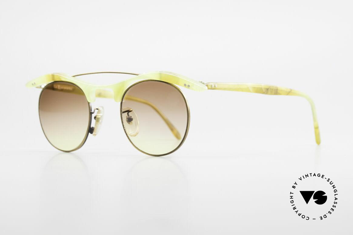 L.A. Eyeworks YANG 670 Vintage Sonnenbrille No Retro, viel Liebe zum Detail (jeder Rahmen mit 'Geburtsjahr'), Passend für Herren und Damen