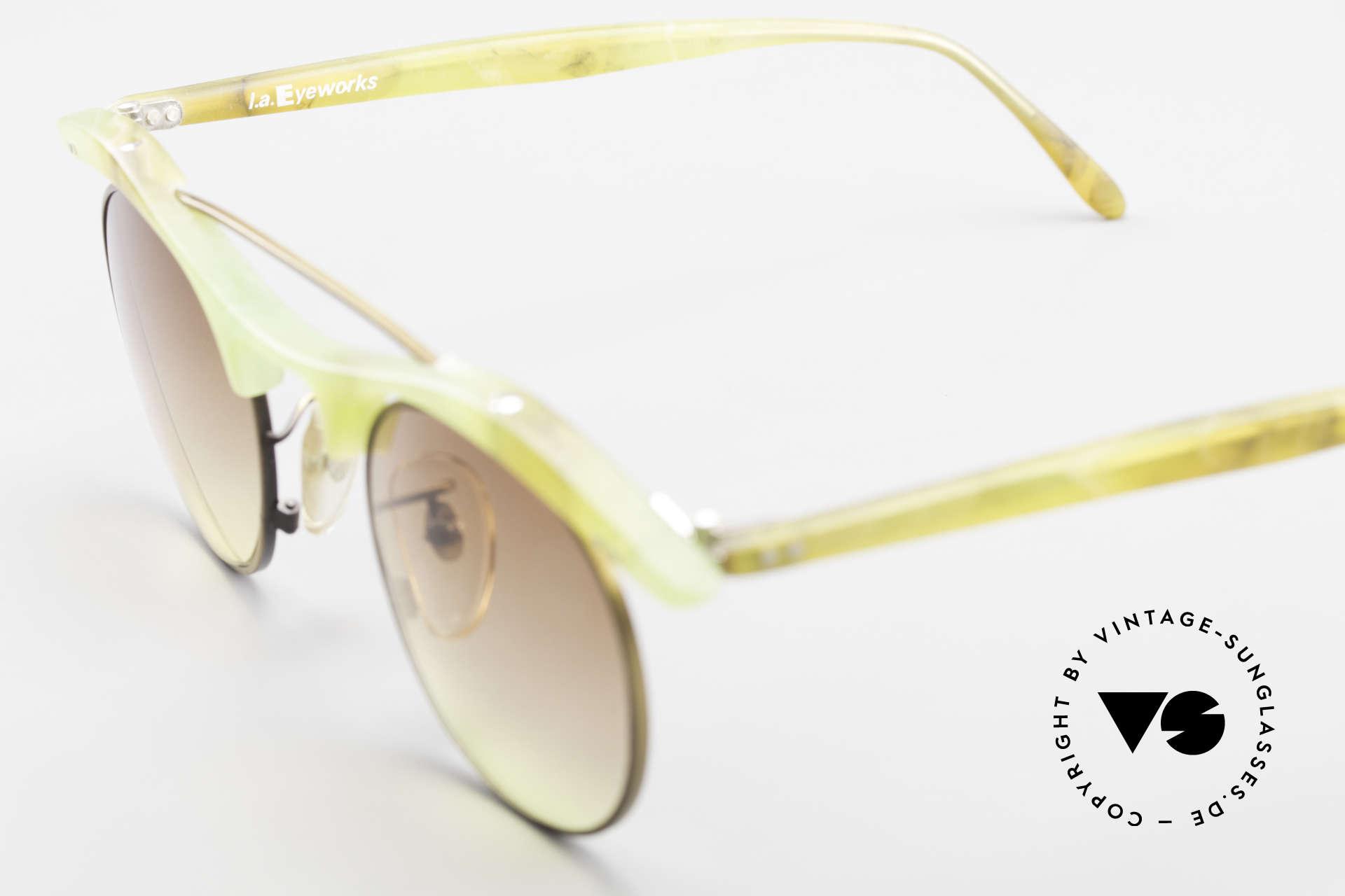 L.A. Eyeworks YANG 670 Vintage Sonnenbrille No Retro, Größe: medium, Passend für Herren und Damen