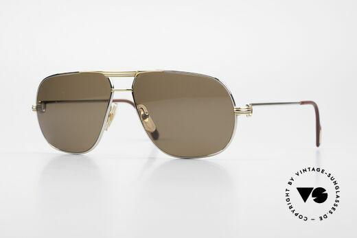 Cartier Tank - L Seltene Platin Sonnenbrille Details