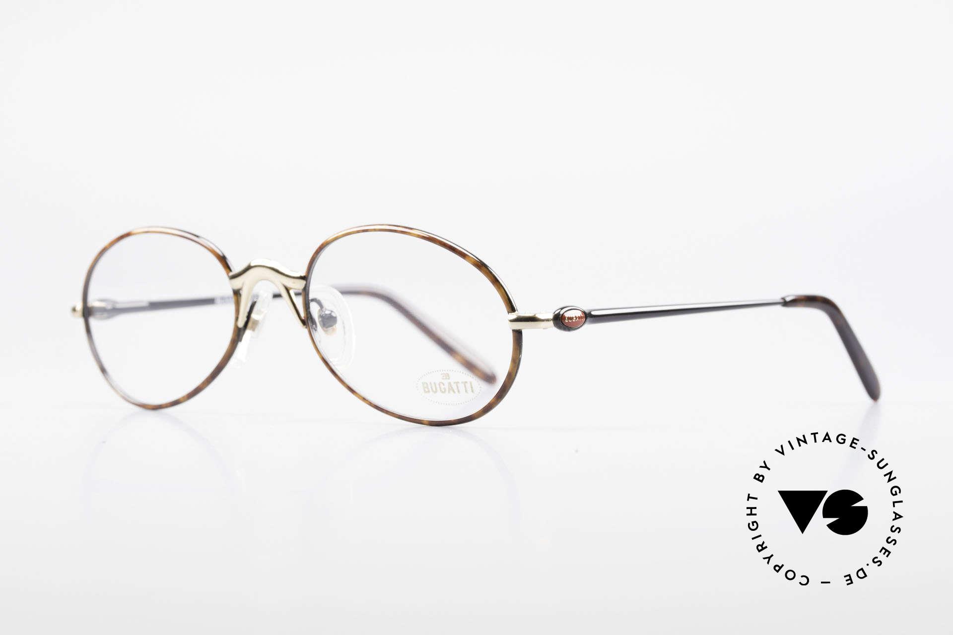 Bugatti 22157 Rare Ovale 90er Vintage Brille, beste Materialien in erstklassiger Verarbeitung, Passend für Herren und Damen