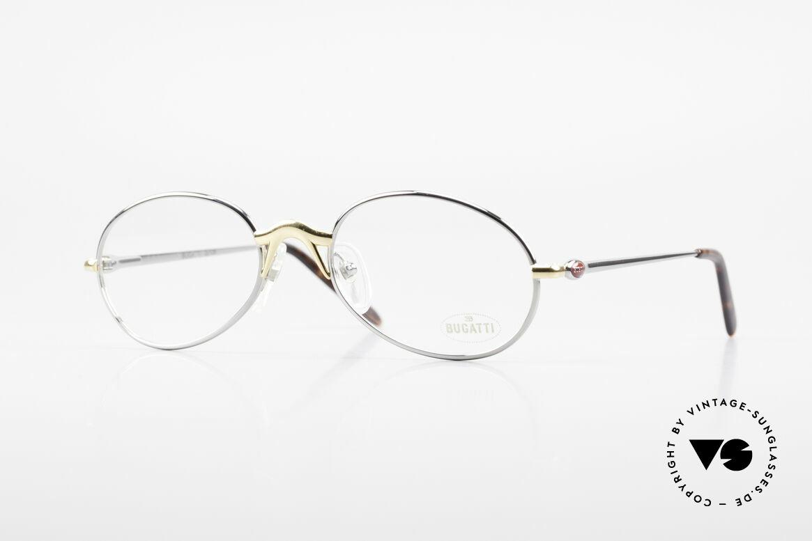 Bugatti 22126 Original 90er Vintage Brille, sehr elegantes BUGATTI vintage Brillengestell, Passend für Herren und Damen