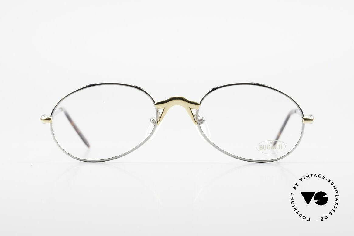 Bugatti 22126 Original 90er Vintage Brille, circa Mitte der 1990er in Frankreich produziert, Passend für Herren und Damen