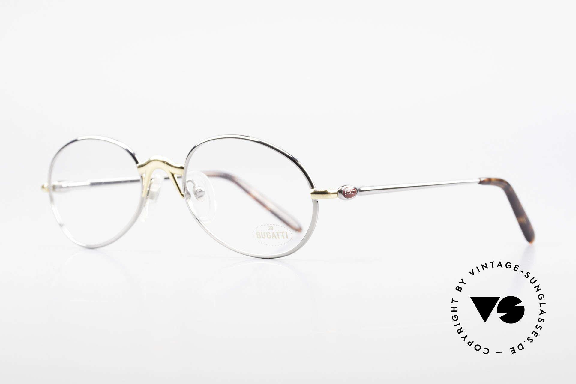 Bugatti 22126 Original 90er Vintage Brille, beste Materialien in erstklassiger Verarbeitung, Passend für Herren und Damen
