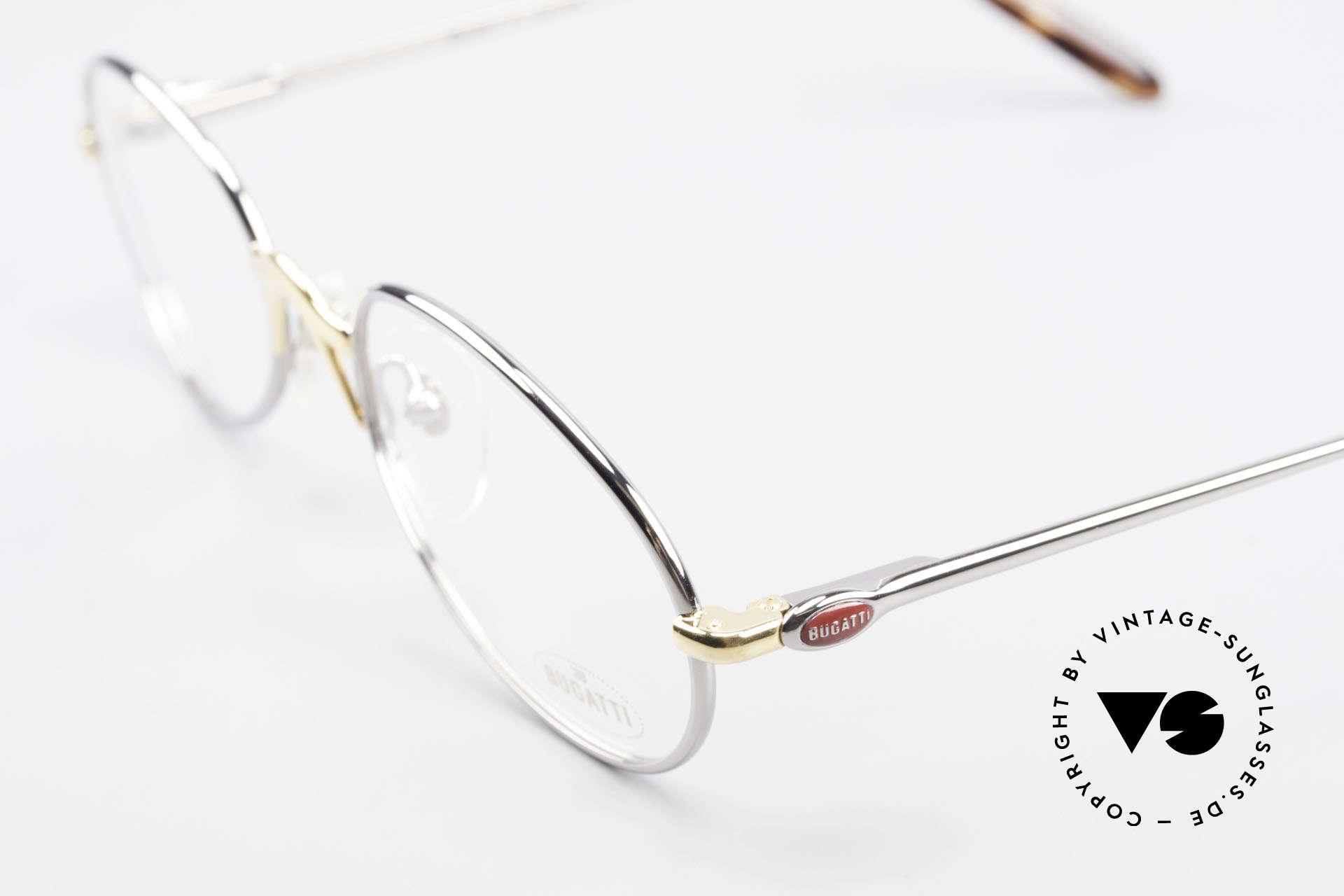 Bugatti 22126 Original 90er Vintage Brille, hoher Komfort u. Passform durch Federgelenke, Passend für Herren und Damen