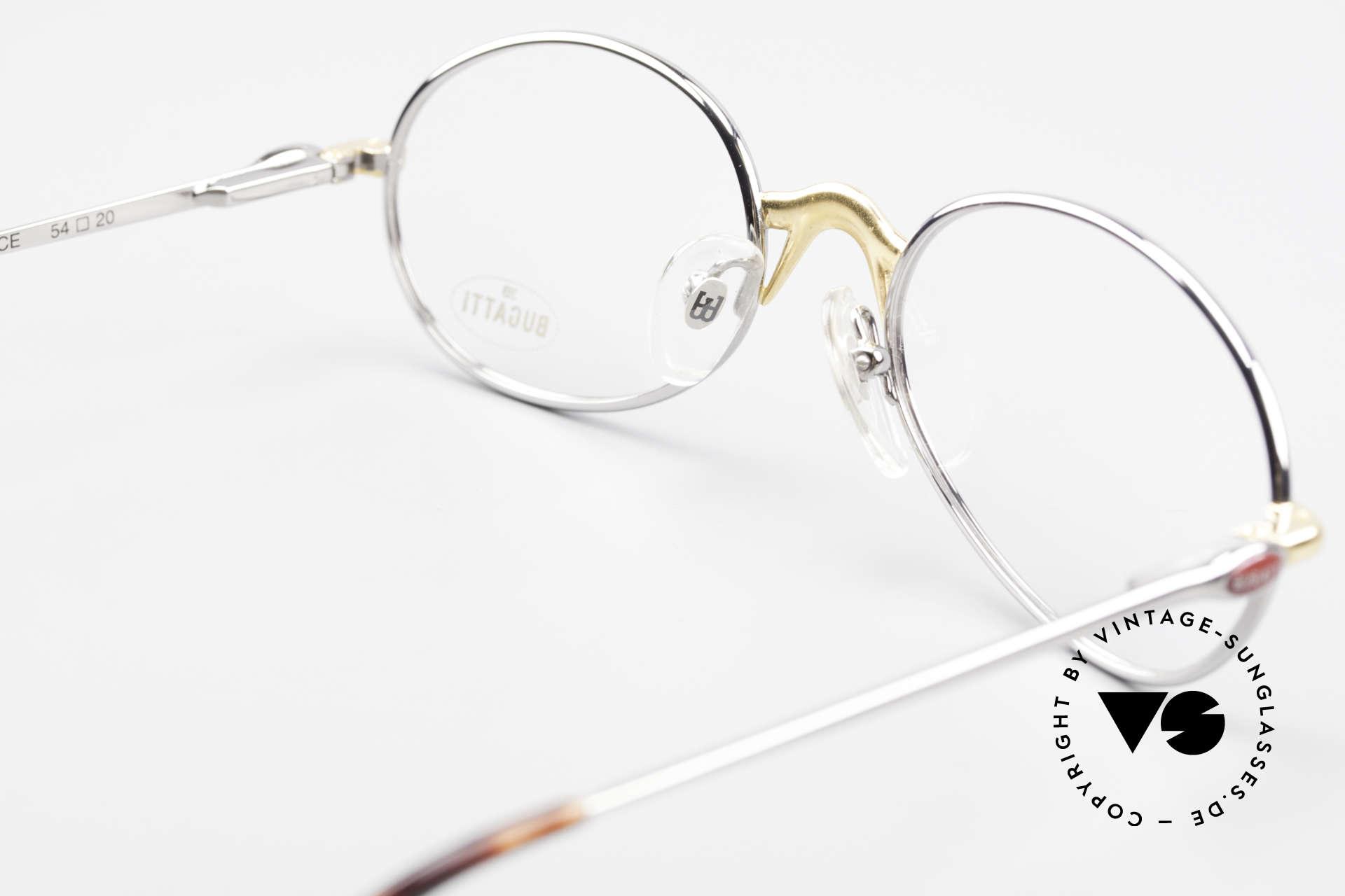 Bugatti 22126 Original 90er Vintage Brille, KEINE Retrobrille, sondern ein altes ORIGINAL!, Passend für Herren und Damen