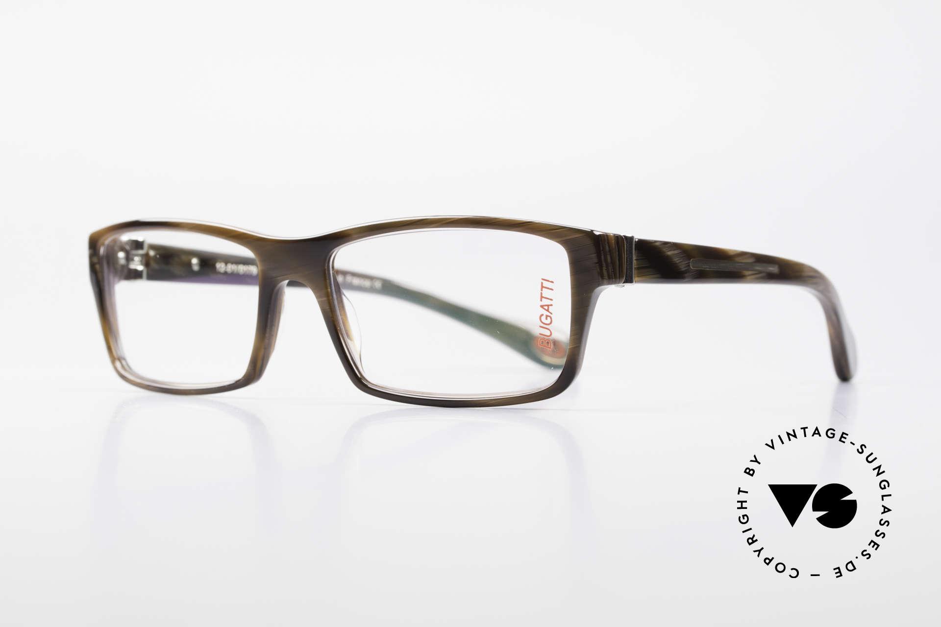 Bugatti 487 Markante Designerbrille Men, optimaler Tragekomfort dank Feder-Scharnieren, Passend für Herren