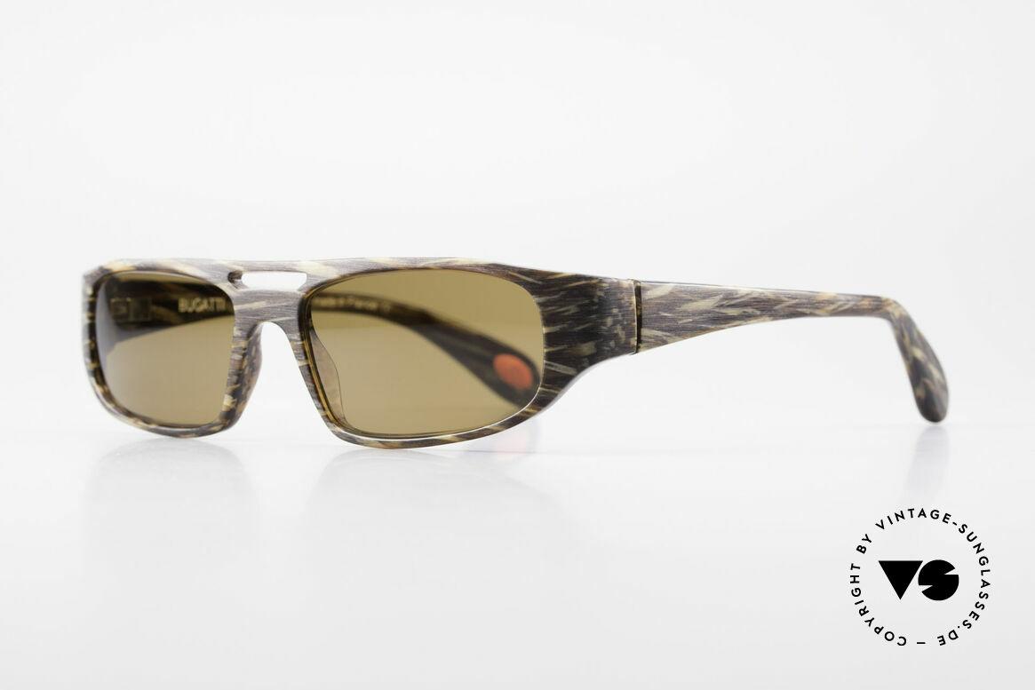 Bugatti 222 Luxus Designer Sonnenbrille, optimaler Tragekomfort dank Feder-Scharnieren, Passend für Herren