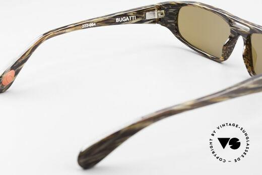 Bugatti 222 Luxus Designer Sonnenbrille, Sonnengläser (100% UV) sind ggf. auswechselbar, Passend für Herren