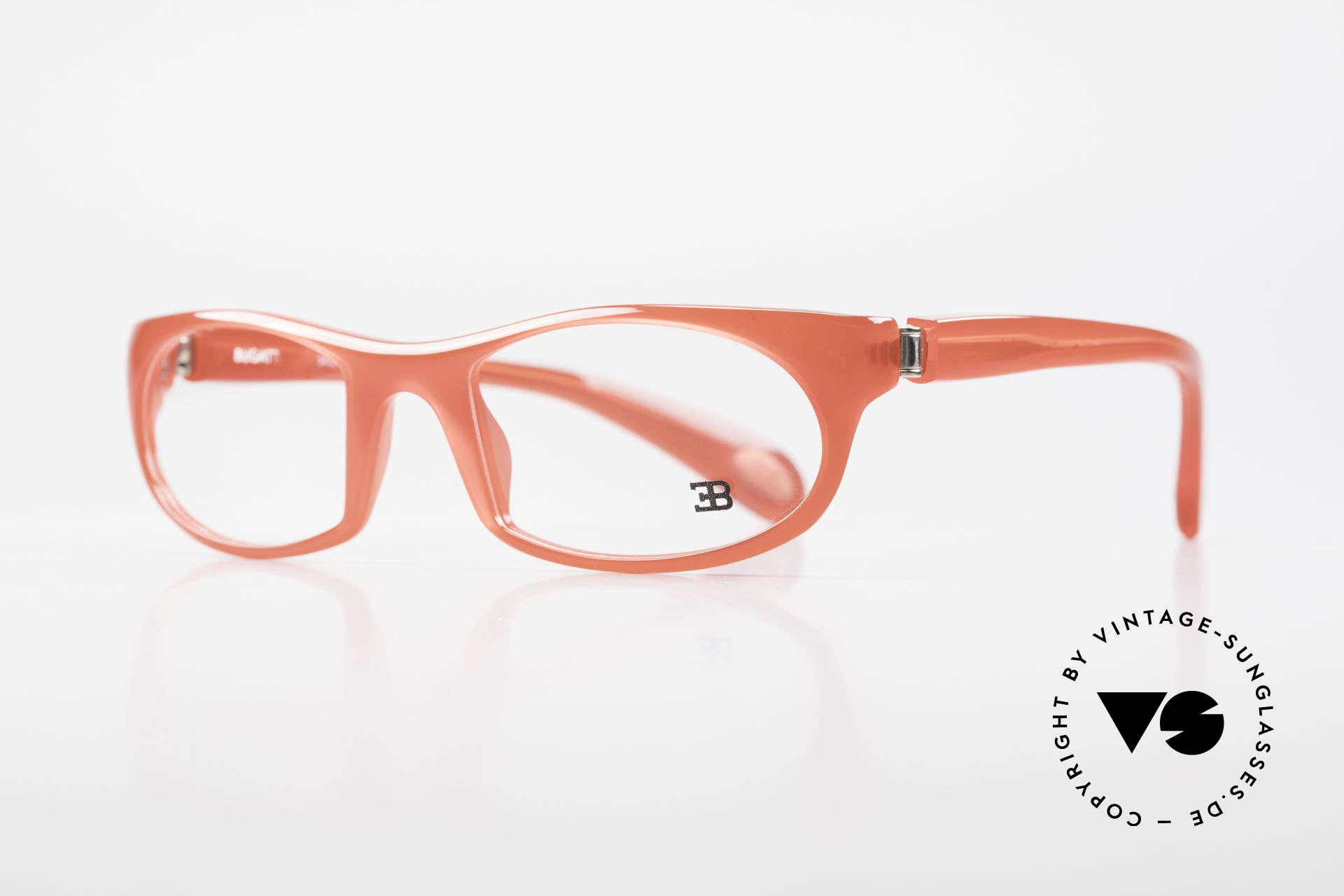 Bugatti 326 Odotype Ettore Vintage Designer Brille, ergonomischer Rahmen mit 180°-Scharnieren, Passend für Herren und Damen