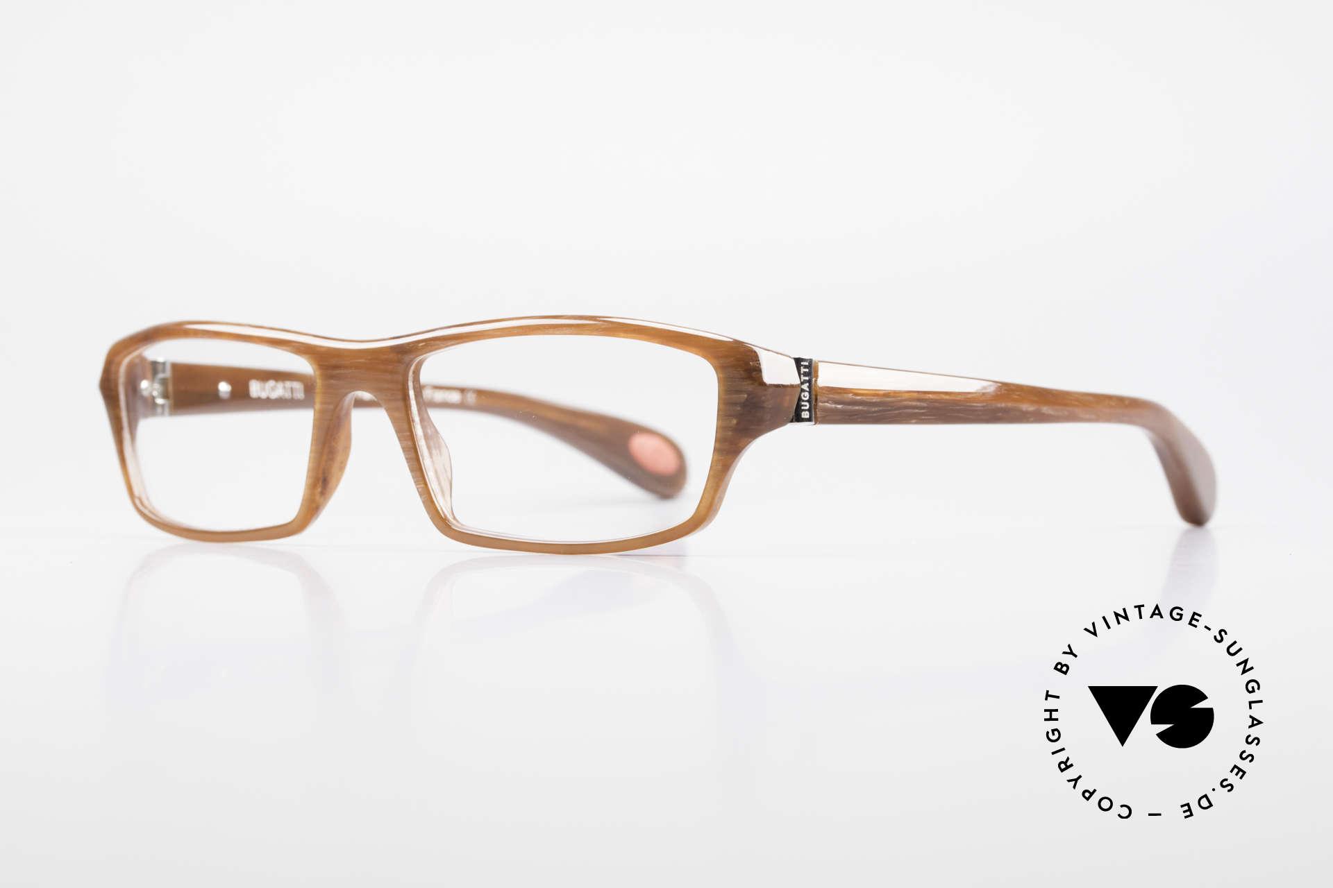 Bugatti 471 Klassische Designerbrille Men, optimaler Tragekomfort dank Feder-Scharnieren, Passend für Herren