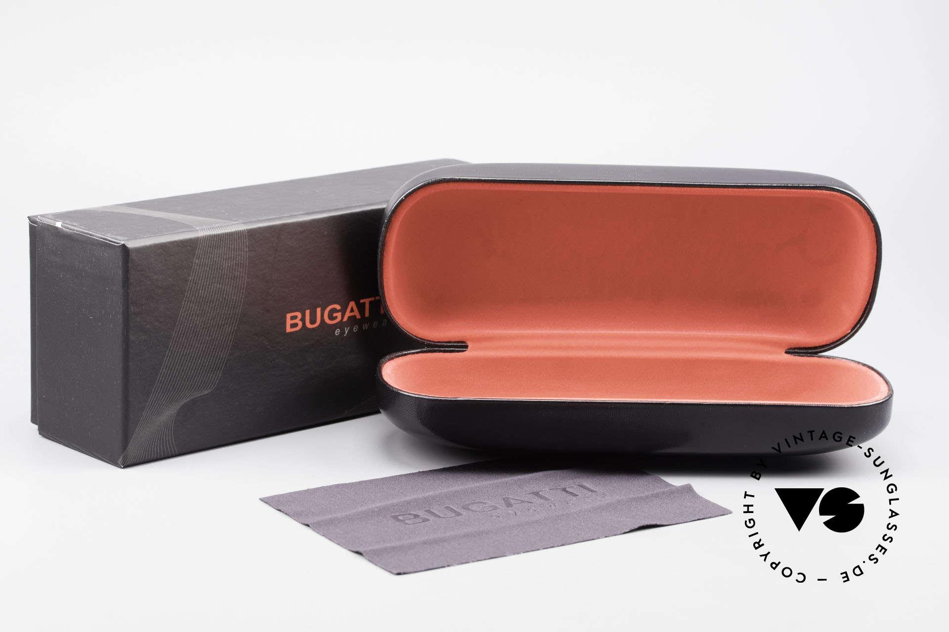 Bugatti 470 Edle Designerbrille Dunkelrot, Größe: medium, Passend für Herren