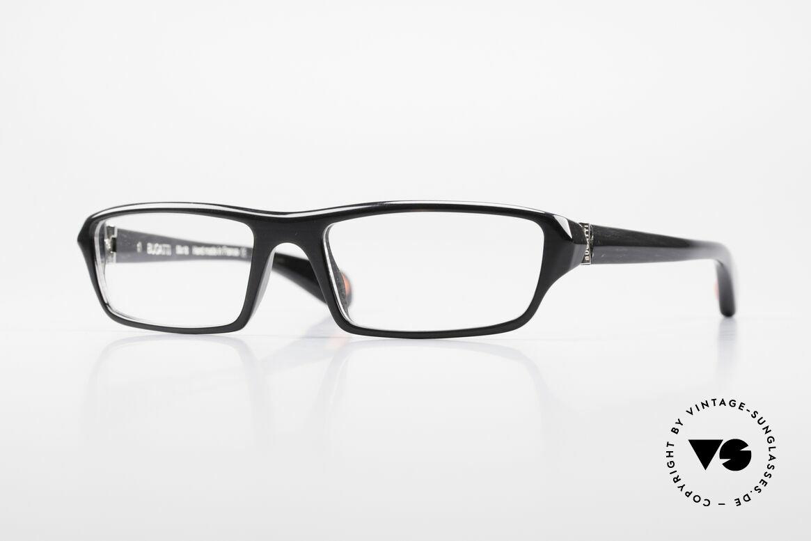 Bugatti 470 Limitierte Luxusbrille Herren, klassische high-tech Brillenfassung von Bugatti, Passend für Herren