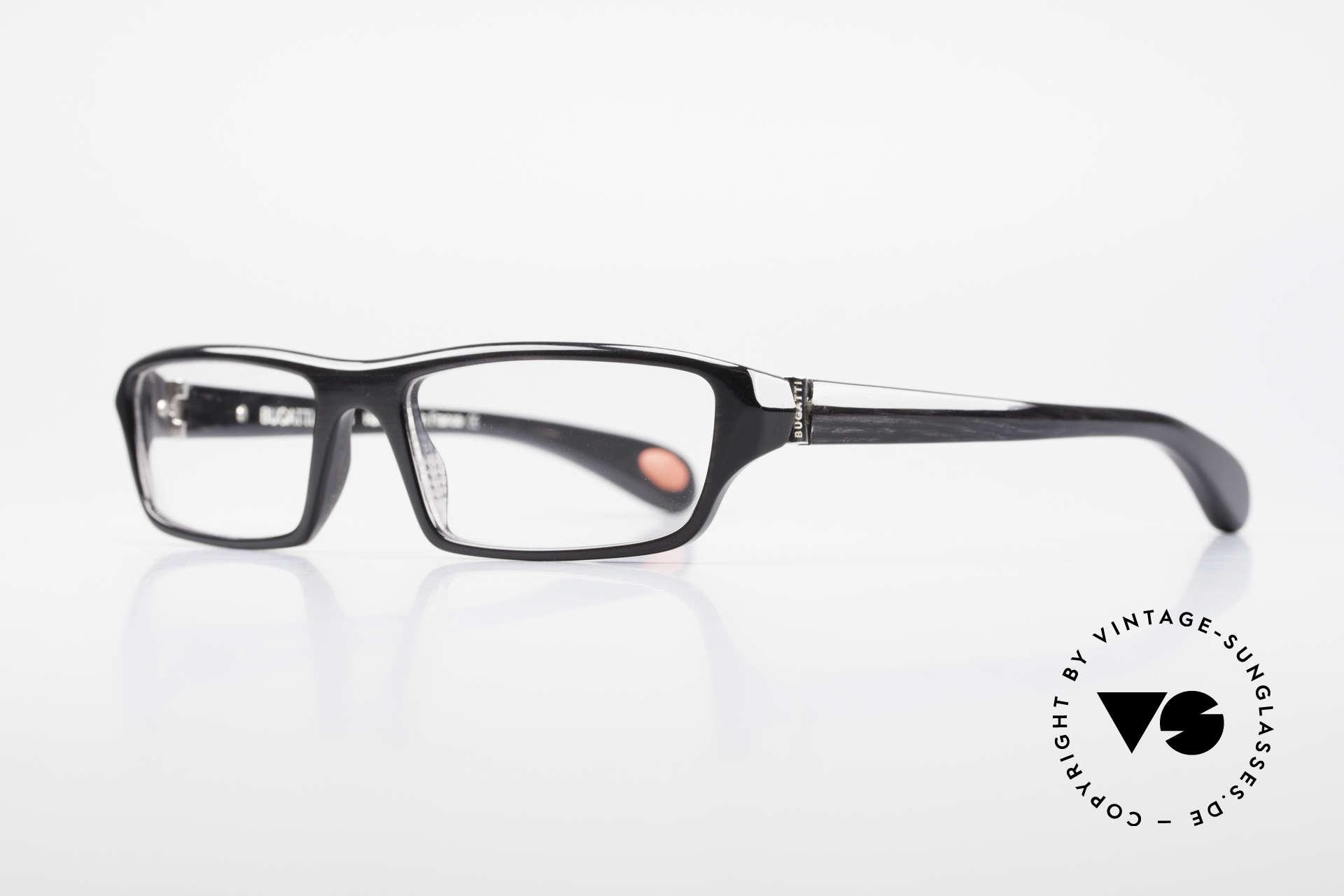 Bugatti 470 Limitierte Luxusbrille Herren, optimaler Tragekomfort dank Feder-Scharnieren, Passend für Herren