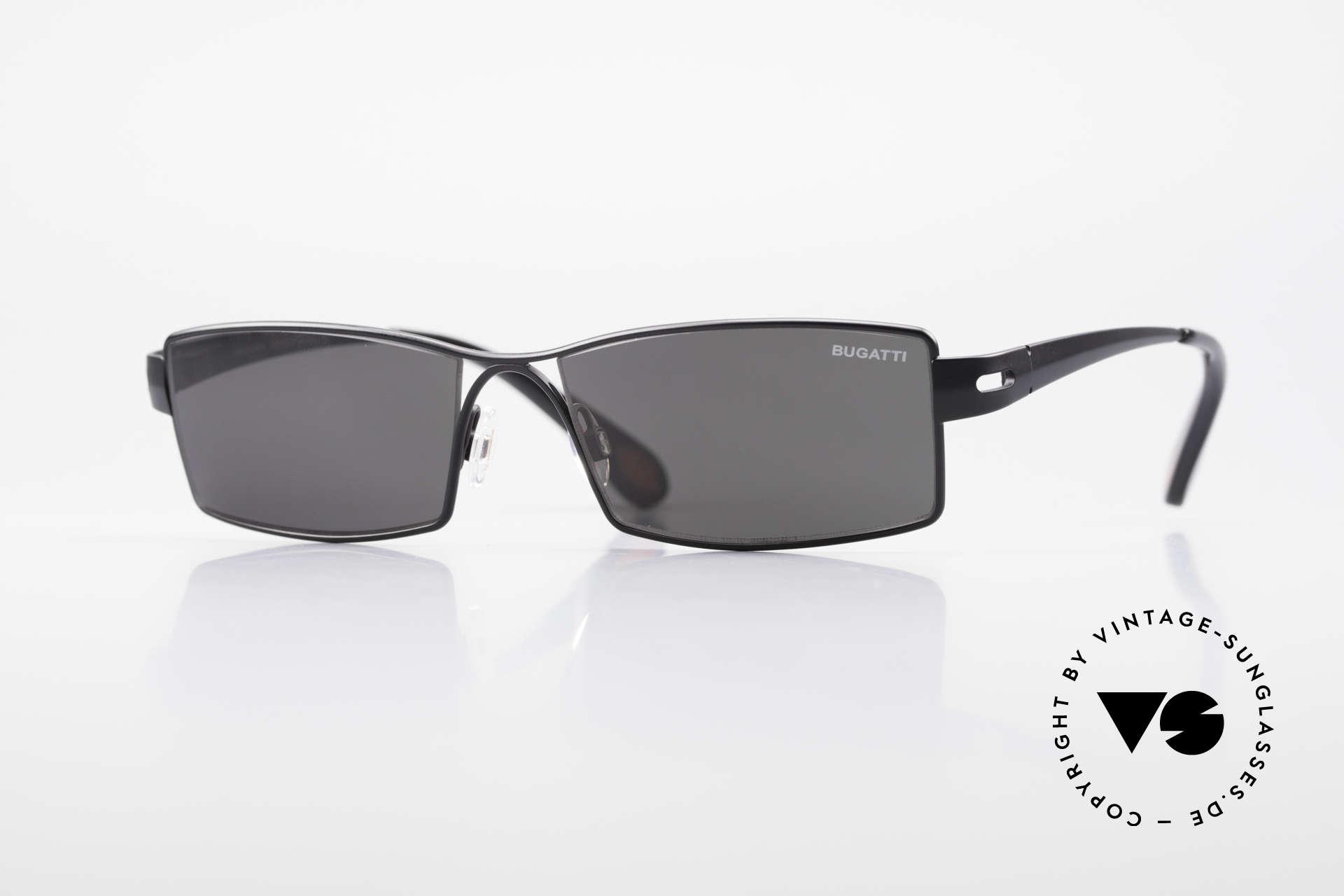 Bugatti 499 Rare XL Designersonnenbrille, markante high-tech Sonnenbrille von BUGATTI, Passend für Herren