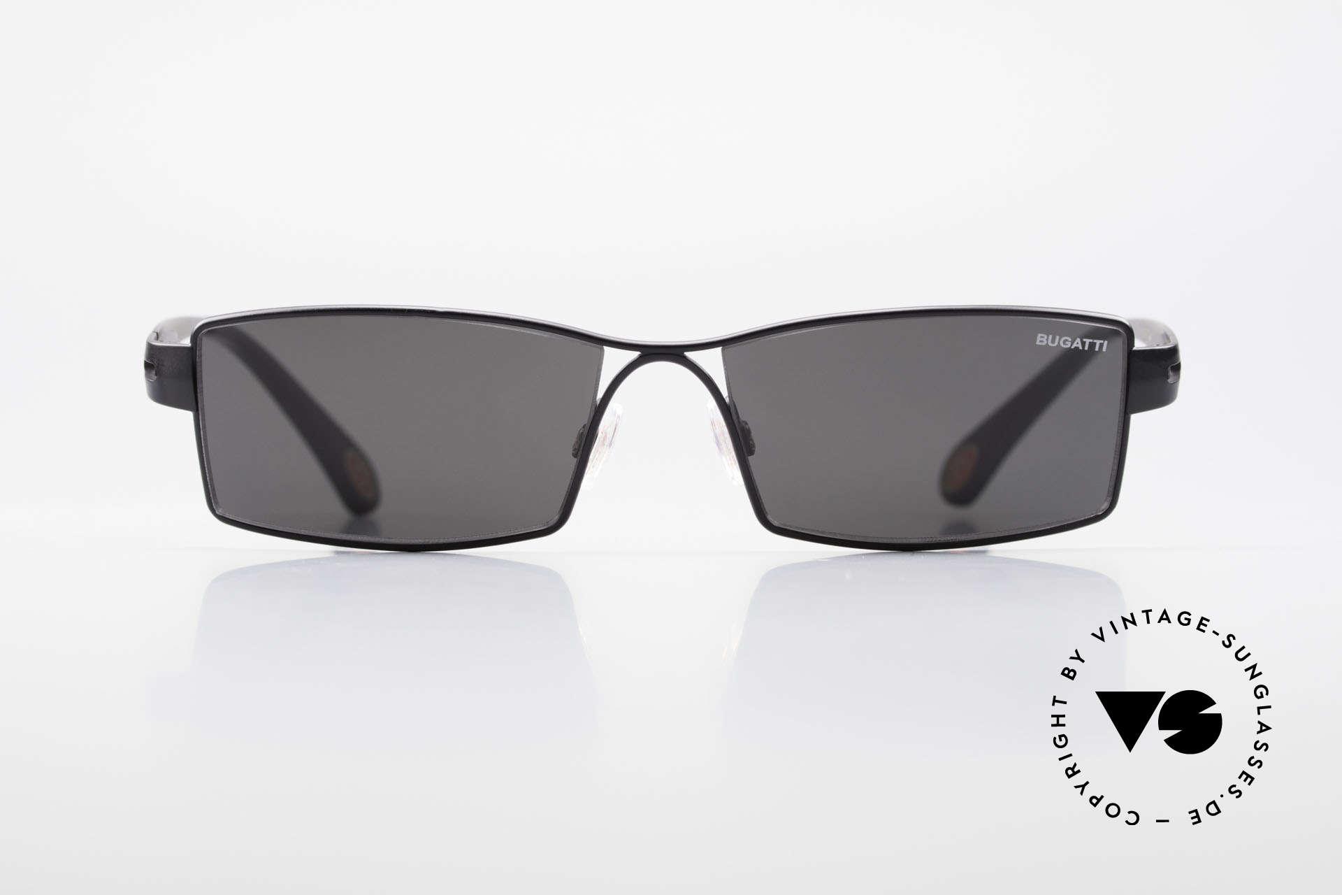 Bugatti 499 Rare XL Designersonnenbrille, absolute Top-Qualität sämtlicher Komponenten, Passend für Herren